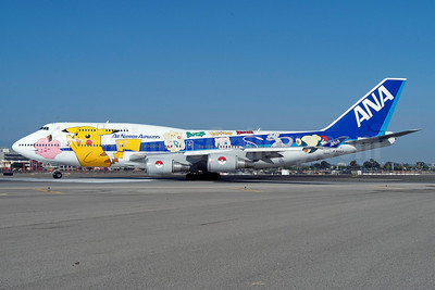 ANA (All Nippon Airways) Boeing 747-481 JA8962 (msn 25645) (Pocket Monsters) LAX (Roy Lock). Image: 922886.
