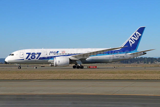 "ANA (All Nippon Airways) Boeing 787-8 Dreamliner JA813A (msn 34521) ""787"" ""Tomo Dachi"" SEA (Michael B. Ing). Image: 930992."