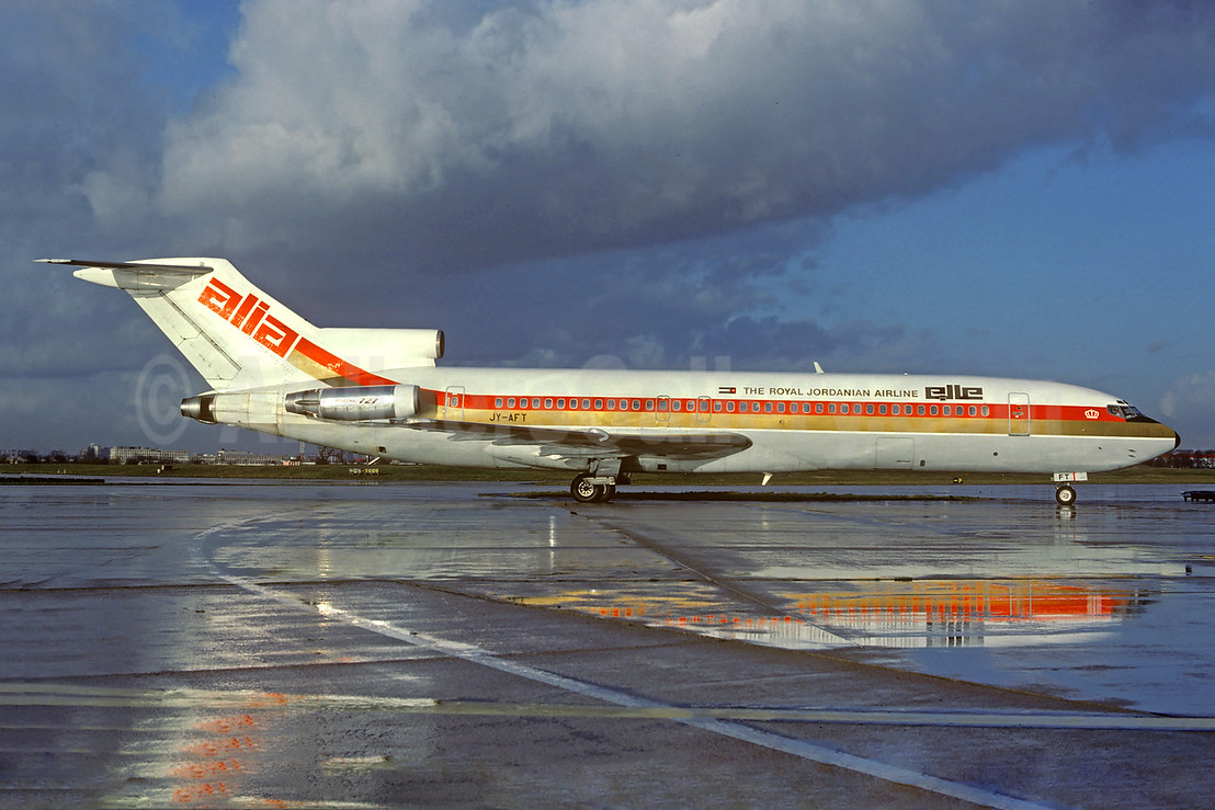 Alia-The Royal Jordanian Airline Boeing 727-2D3 JY-AFT (msn 22268) ORY (Jacques Guillem). Image: 922307.