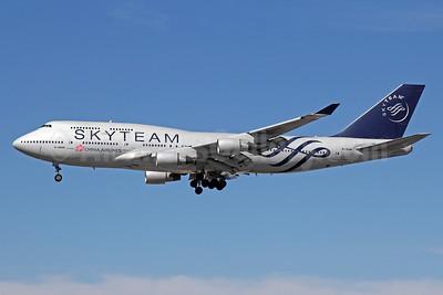 China Airlines Boeing 747-409 B-18206 (msn 29030) (SkyTeam) LAX (Michael B. Ing). Image: 929565.