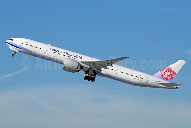 China Airlines Boeing 777-36N ER B-18053 (msn 41845) LAX (Michael B. Ing). Image: 933817.