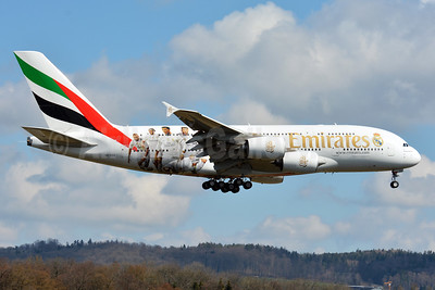 "Emirates' second ""Real Madrid"" A380 logo jet"