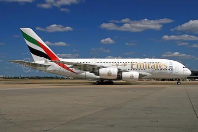 Emirates Airline Airbus A380-861 A6-EEA (msn 108) (Expo 2020 Dubai UAE) LHR. Image: 928330.