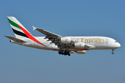 Emirates Airline Airbus A380-861 A6-EET (msn 142) (Expo 2020 Dubai UAE) ZRH (Paul Bannwarth). Image: 927516.