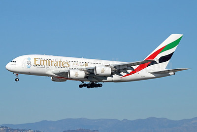 Emirates Airline Airbus A380-861 A6-EOF (msn 171) LAX (Michael B. Ing). Image: 932600.