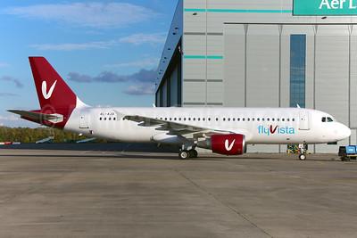flyVista Airbus A320-214 4L-AJD (msn 879) DUB (Greenwing). Image: 928647.