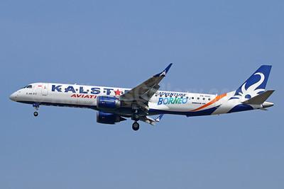 "Kalstar's new E195 with an ""Adventure Borneo"" logo"