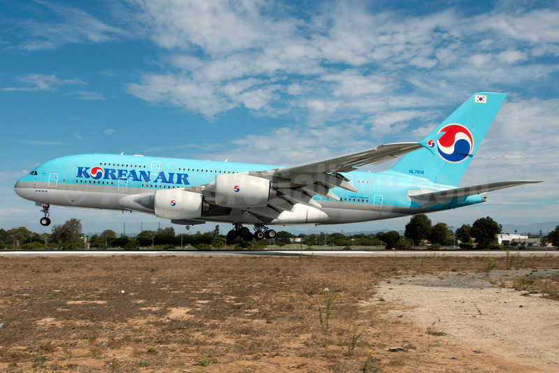 Korean Air Airbus A380-861 HL7619 (msn 096) LAX (Roy Lock). Image: 913551.