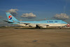 Korean Air Boeing 747-4B5 HL7483 (msn 25275) LHR. Image: 924615.