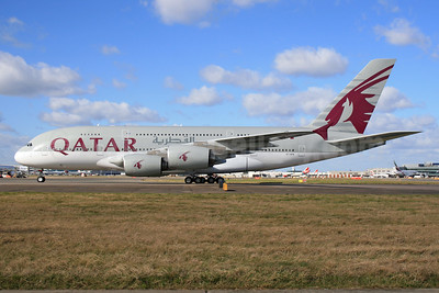 Qatar Airways Airbus A380-861 A7-APA (msn 137) LHR. Image: 926616.