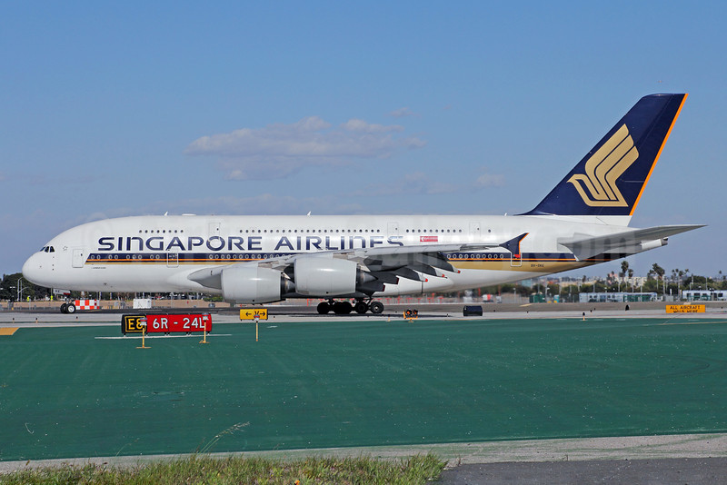 Singapore Airlines Airbus A380-841 9V-SKE (msn 010) LAX. Image: 912978.
