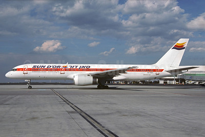 Sun d'Or International Airlines Boeing 757-27B 4X-EBY (msn 24137) (Martinair colors) MUC (Christian Volpati Collection). Image: 928731.