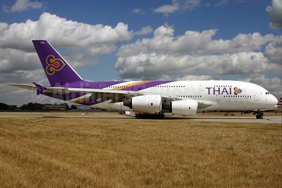 Thai Airways International Airbus A380-841 HS-TUC (msn 100) LHR. Image: 928614.