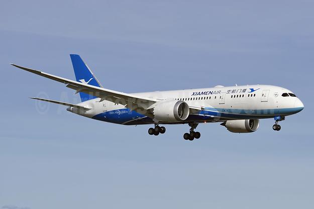 Xiamen Air Boeing 787-8 Dreamliner B-2760 (msn 41540) PAE (Steve Bailey). Image: 926637.