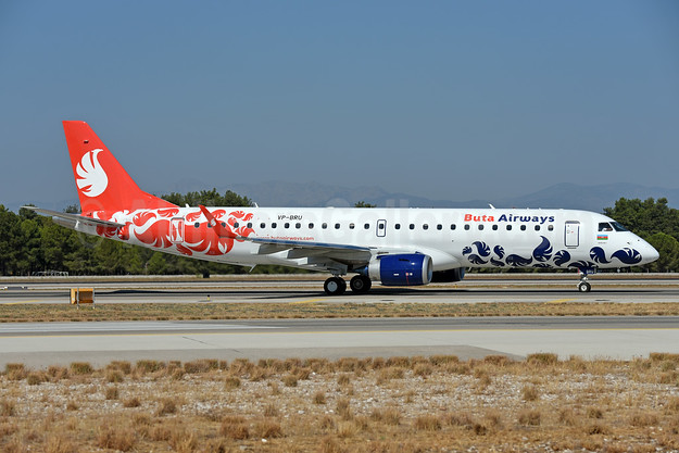 Buta Airways Embraer ERJ 190-100LR VP-BRU (msn 19000733) AYT (Ton Jochems). Image: 939804.