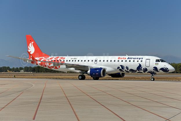 Buta Airways Embraer ERJ 190-100LR VP-BRU (msn 19000733) AYT (Ton Jochems). Image: 939805.