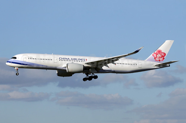 China Airlines Airbus A350-941 B-18909 (msn 138) LGW (Antony J. Best). Image: 941155.