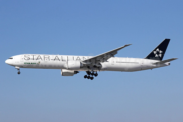 EVA Air Boeing 777-35E ER B-16701 (msn 32639) (Star Alliance) LAX (Michael B. Ing). Image: 913941.
