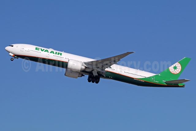 EVA Air Boeing 777-35E ER B-16727 (msn 43291) LAX (Michael B. Ing). Image: 935886.