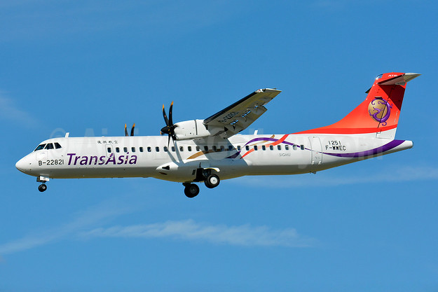 TransAsia Airways ATR 72-212A (ATR 72-600) F-WWEC B-22821 (msn 1251) TLS (Paul Bannwarth). Image: 928568.