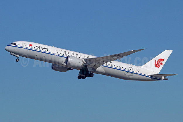 Air China Boeing 787-9 Dreamliner B-7877 (msn 34305) LAX (Michael B. Ing). Image: 936209.