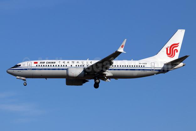 Air China Boeing 737-8 MAX 8 B-1399 (msn 60880) PEK (Michael B. Ing). Image: 944478.