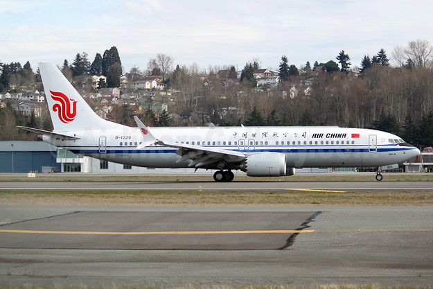 Air China Boeing 737-8 MAX 8 B-1223 (msn 60889) BFI (Joe G. Walker). Image: 941581.