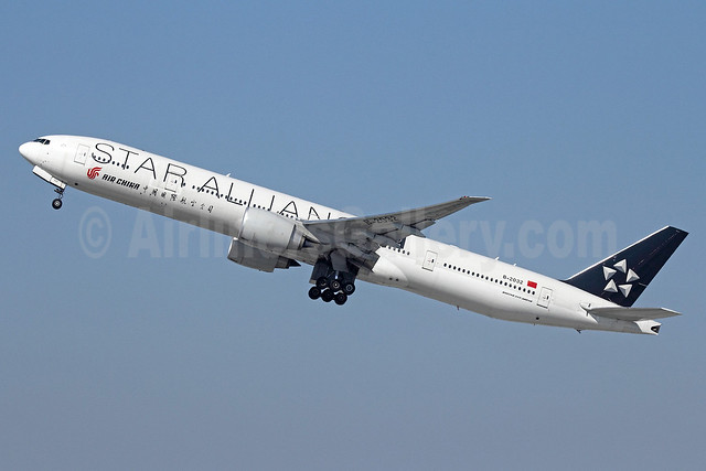 Air China Boeing 777-39L ER B-2032 (msn 38671) (Star Alliance-15 Years) LAX (Michael B. Ing). Image: 911222.