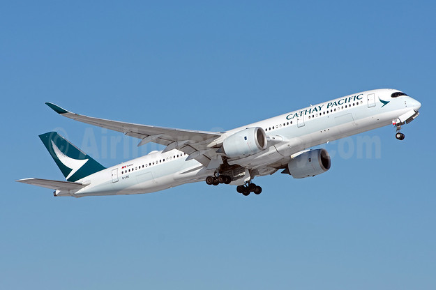 Cathay Pacific Airways Airbus A350-941 B-LRE (msn 039) YVR (Rob Rindt). Image: 941122.
