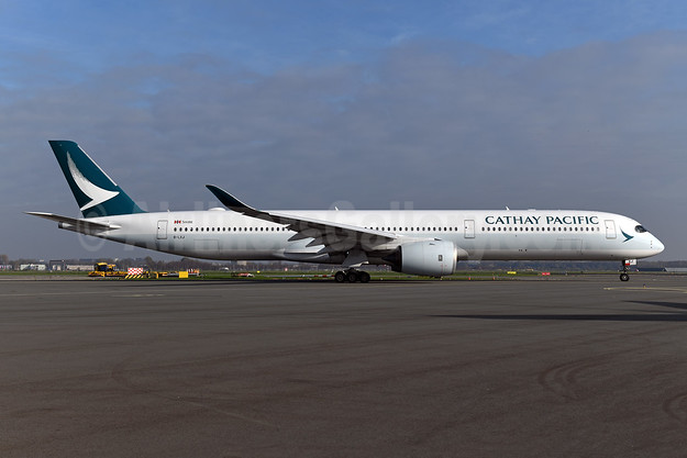 Cathay Pacific Airways Airbus A350-1041 B-LXJ (msn 286) AMS (Ton Jochems). Image: 955154.