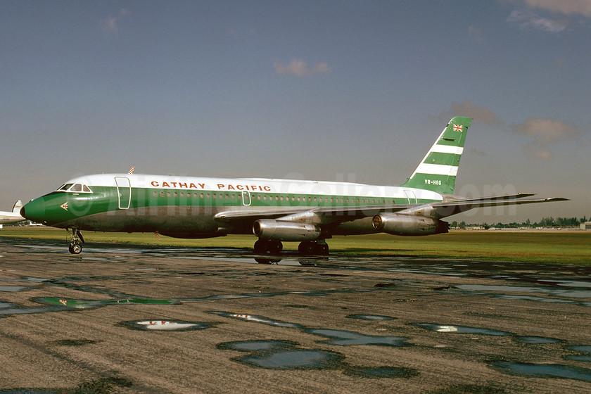 Cathay Pacific Airways Convair 880-22M-22 VR-HGG (msn 60M) MIA (Bruce Drum). Image: 102973.