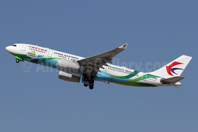 China Eastern Airlines Airbus A330-243 B-5902 (msn 1324) (Greenland Group) LAX (James Helbock). Image: 932159.