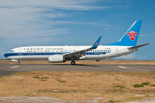 China Southern Airlines Boeing 737-81B WL B-5646 (msn 38932) HNL (Ivan K. Nishimura). Image: 908628.