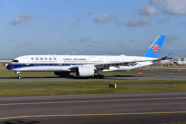 China Southern Airlines Airbus A350-941 B-30FO (msn 411) AMS (Ton Jochems). Image: 952999.