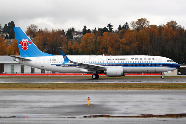 China Southern Airlines Boeing 737-8 MAX 8 B-1206 (msn 63245) BFI (Joe G. Walker). Image: 939951.