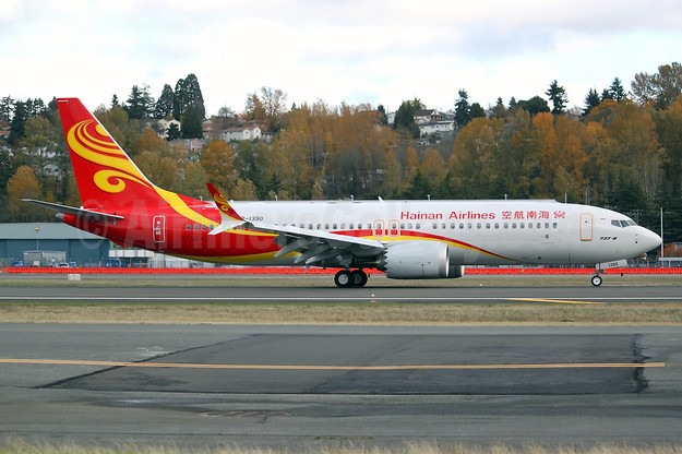 The first Boeing 737-8 MAX 8 for Hainan Airlines