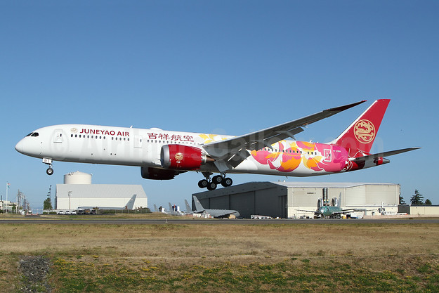 "Juneyao Air's 2019 ""Chinese Floral"" design"