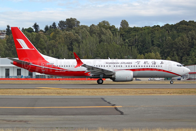 The first Boeing 737-8 MAX 8 for Shanghai Airlines, delivered on November 27, 2017