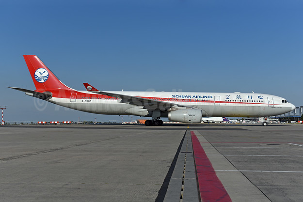 Sichuan Airlines Airbus A330-343 B-5960 (msn 1579) PRG (Ton Jochems). Image: 940815.