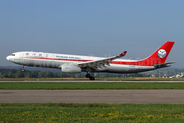 Sichuan Airlines Airbus A330-343 B-5960 (msn 1579) ZRH (Andi Hiltl). Image: 943617.