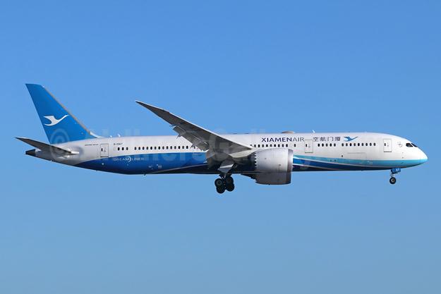 Xiamen Air Boeing 787-9 Dreamliner B-1567 (msn 63041) LAX (Michael B. Ing). Image: 944731.