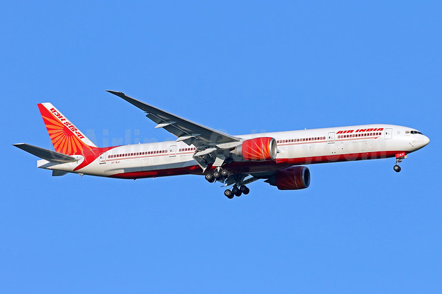 Air India Boeing 777-337 ER VT-ALU (msn 36319) IAD (Brian McDonough). Image: 938604.