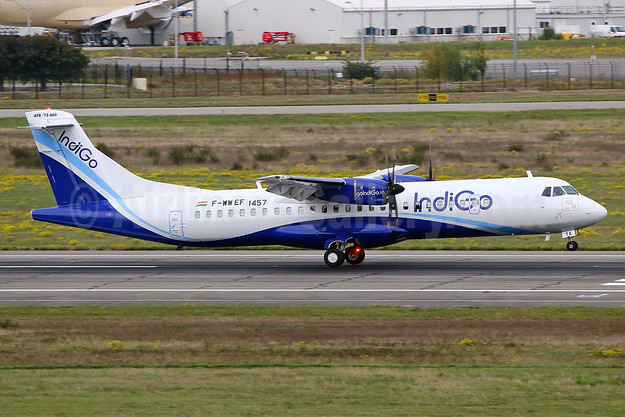 IndiGo's first ATR 72-600, delivered on November 17, 2017