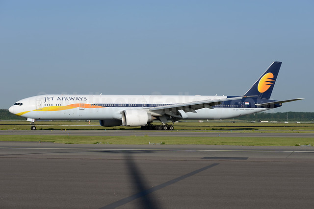 Jet Airways Boeing 777-35R ER VT-JEH (msn 35166) AMS (Ton Jochems). Image: 938030.