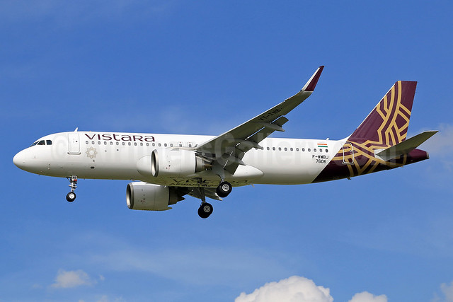 First flght of the first Airbus A320neo for Vistara