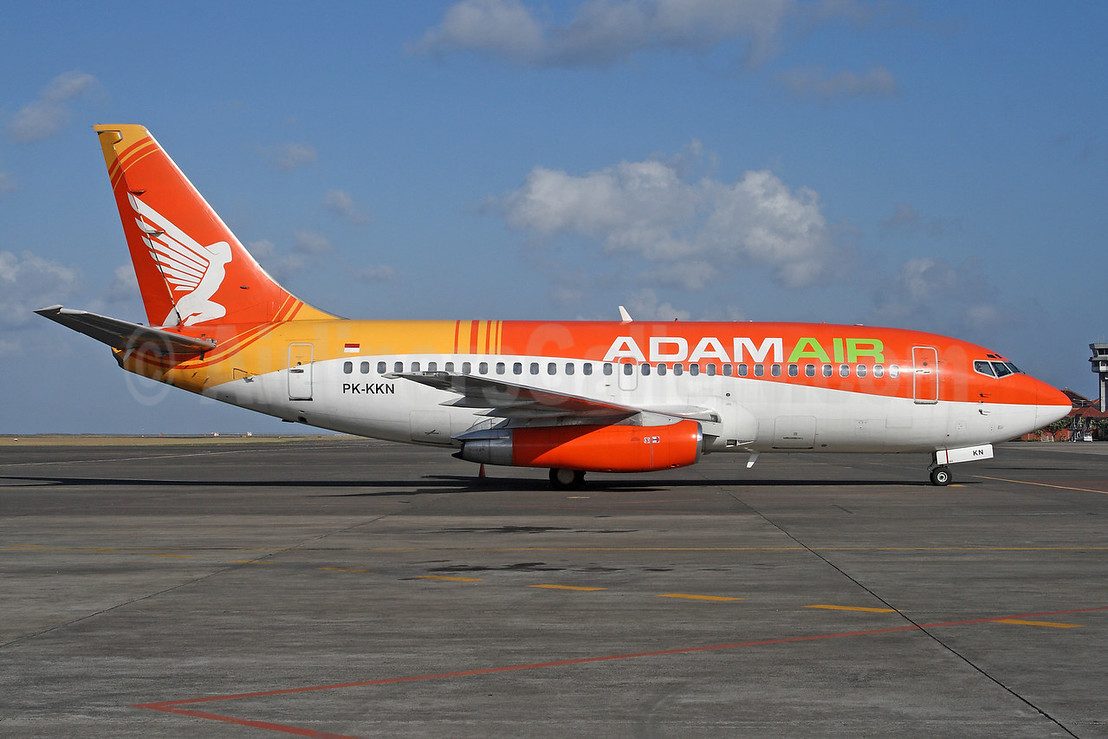 Adam Air Boeing 737-2U4 PK-KKN (msn 22161) DPS (Michael B. Ing). Image: 927717.