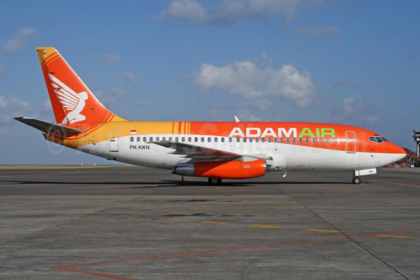 Adam Air Boeing 737-2U4 PK-KKN (msn 22161) DPS (Michael B. Ing). Image: 927717.