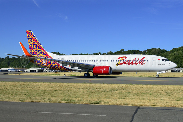 The first Boeing 737-800 for Batik Air