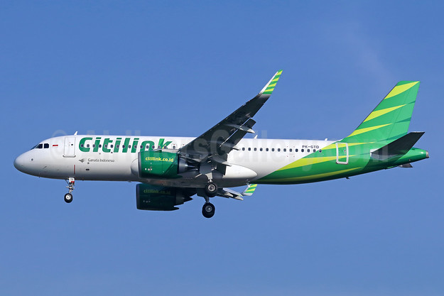 Citilink-Garuda Indonesia Airways Airbus A320-251N WL PK-GTD (msn 7587) CGK (Michael B. Ing). Image: 938393.