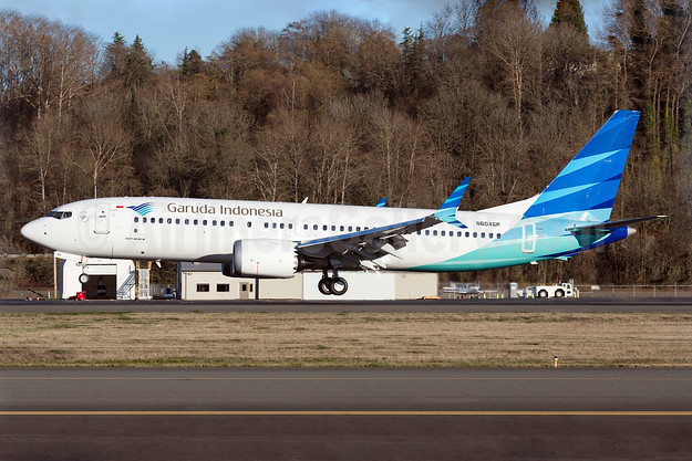 Garuda Indonesia's first Boeing 737-8 MAX 8
